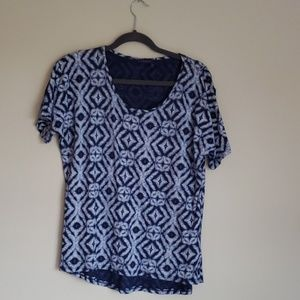 Fresh Produce Top, Blue Sz XL. Made in the USA